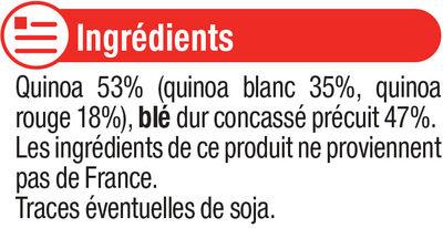 Duo de céréales quinoa et boulgour - Ingrédients - fr