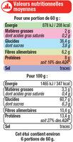 Duo de céréales quinoa et boulgour - Informations nutritionnelles - fr