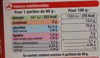 Pâtes Chinoises aux Œufs - Voedingswaarden - fr