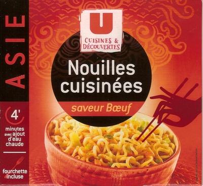 Nouilles cuisinées saveur boeuf - Produit