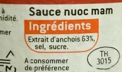 Sauce nuoc mam - Ingredients - fr