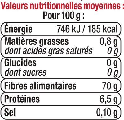 Champignons noirs déshydratés - Voedingswaarden