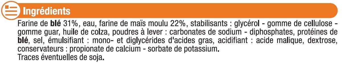 Tortillas souples de maïs - Ingredients - fr