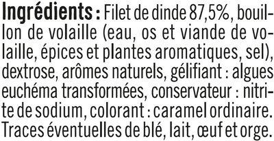 Blanc de Dinde - Ingrédients - fr