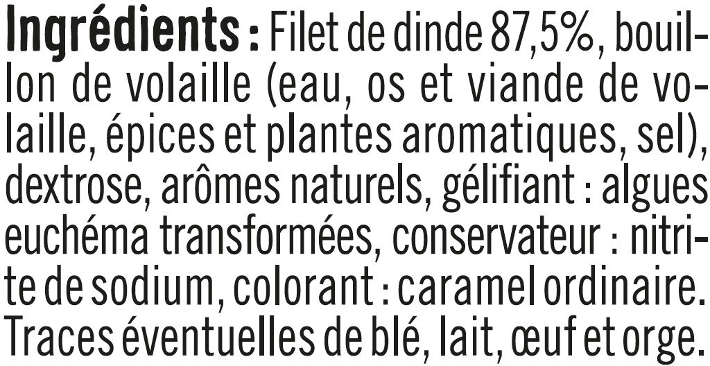 Blanc de Dinde - Inhaltsstoffe - fr