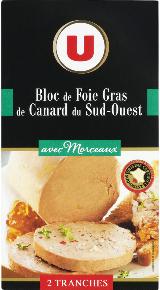 Bloc de foie gras de canard du Sud Ouest 30% de morceaux - Product - fr