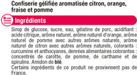 Confiserie gélifiés frites - Ingrediënten - fr
