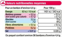 Confiserie gélifiés frites - Voedingswaarden - fr