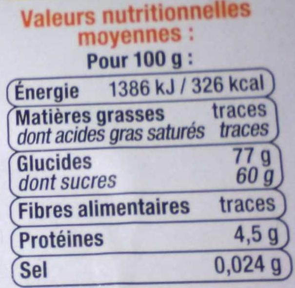 assortiment de gélifiés - Informations nutritionnelles - fr