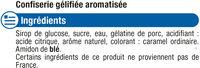 Confiserie gélifiée cola - Ingrediënten - fr