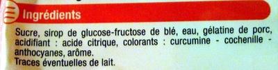 Fraises - Ingredients - fr
