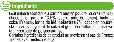 Préparation Brownies aux éclats de noisettes - Ingredients