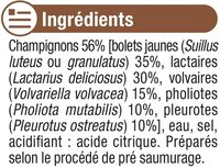 Champignons Forestiers - Ingrediënten - fr