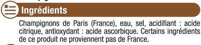 Champignons miniatures - Ingredients - fr
