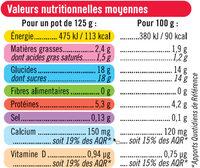 Yaourts brassés sucrés à la pulpe de fruits rouges - Nutrition facts