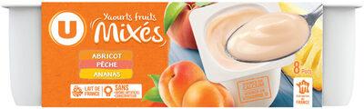 Yaourt brassé mix sucré à la pulpe de fruits jaunes - Produit