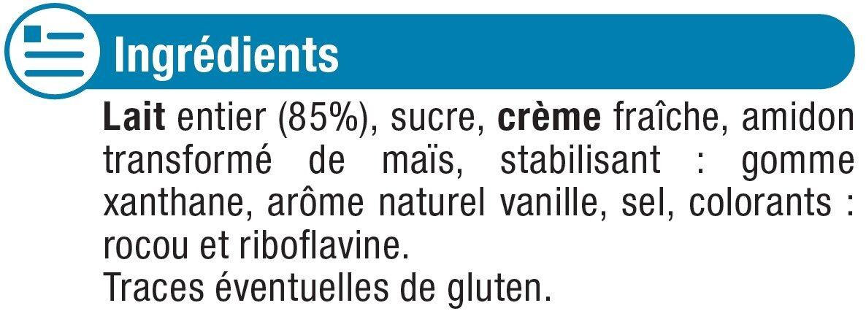 Crème dessert à la vanille - Ingrédients