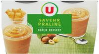 Crème saveur dessert praliné - Produit - fr