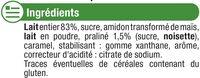 Crème saveur dessert praliné - Ingrédients - fr