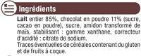 Crème dessert chocolat - Ingrédients