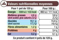 Crème dessert saveur chocolat - Informations nutritionnelles - fr