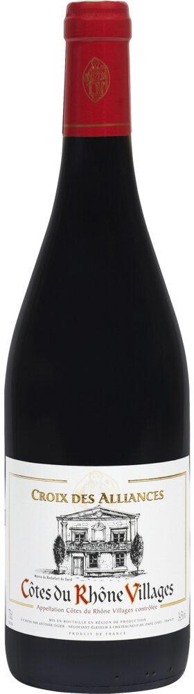 Vin rouge AOC Côtes du Rhône Villages Croix des Alliances - Product - fr