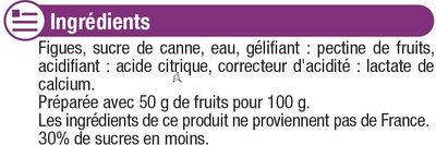 Confiture figue allégée - Ingrédients - fr