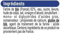 Pain de mie sans croûte Pur Mie nature - Ingrediënten - fr
