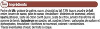 Sprits au chocolat au lait - Ingredients - fr