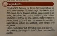 Sablés Céréales nappés de Chocolat au Lait - Ingrediënten - fr