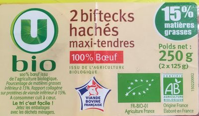 Steack haché maxi tendre, 15% MAT.GR. - Ingrédients