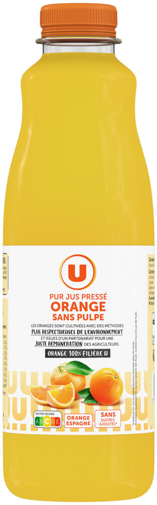 Pur jus d'orange sans pulpe - Produit - fr
