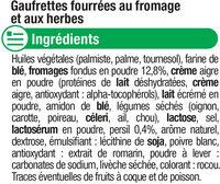 Gaufrettes au fromage et fines herbes - Ingredients