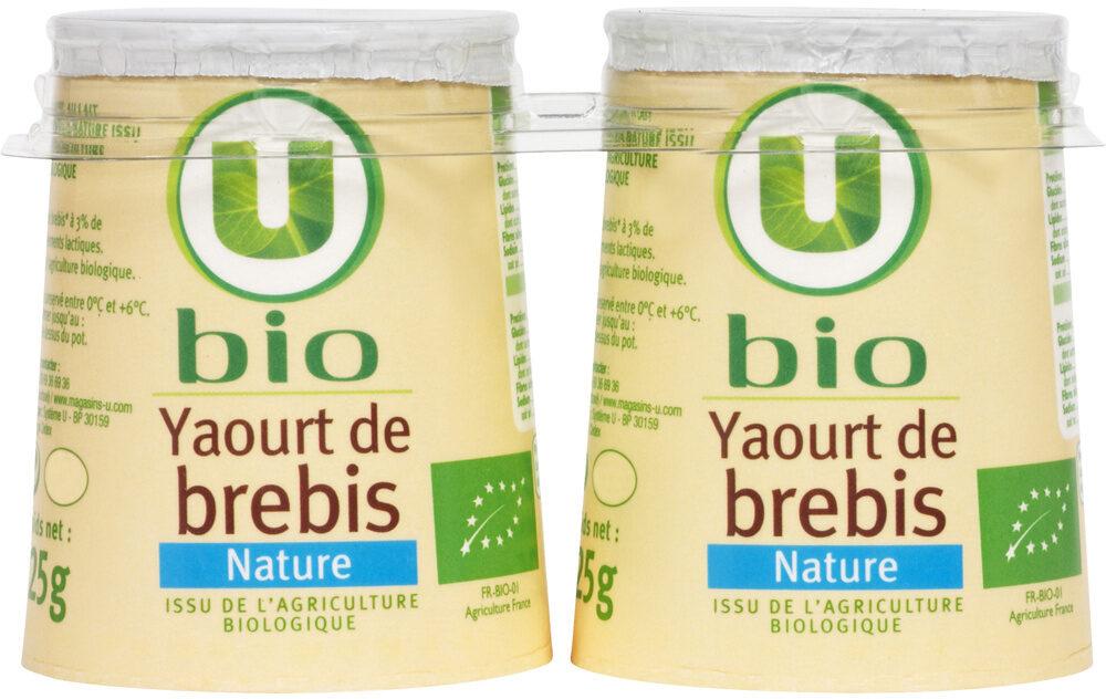 Yaourts bio nature au lait de brebis - Product - fr