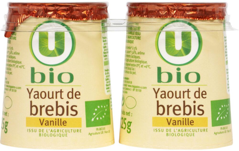 Yaourts bio au lait de brebis saveur vanille - Produit - fr