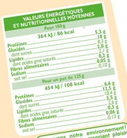 Yaourts bio au lait de brebis saveur vanille - Nutrition facts