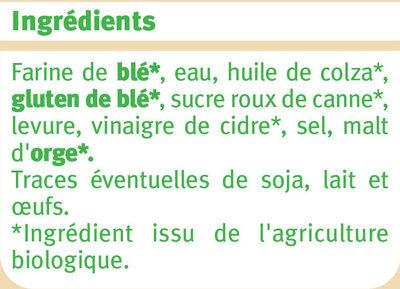 Pain de mie spécial sandwich nature grandes tranches - Ingredienti - fr