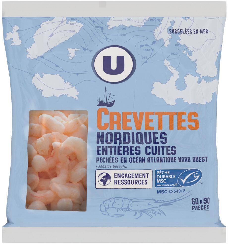 Crevettes nordiques entières cuites - Product - fr
