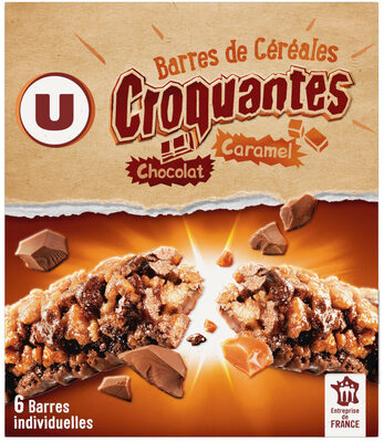 Barres croustilllantes au caramel et chocolat - Produit - fr