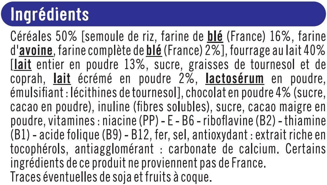 Céréales chocolatées fourrées au lait - Ingrédients