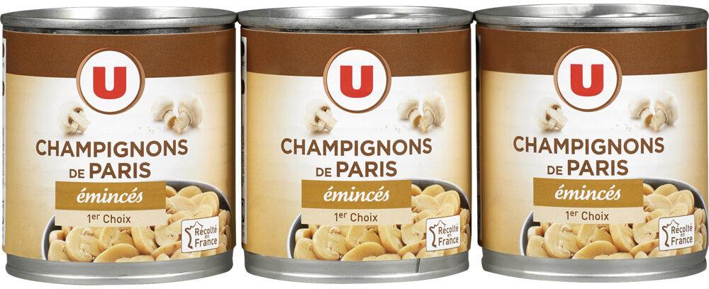 Champignons émincés 1er choix - Product - fr