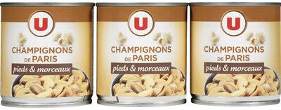 Champignons de Paris pieds & morceaux - Produit - fr