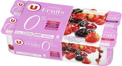 Yaourt allégé en sucres aux fruits rouges 0% de MG - Product