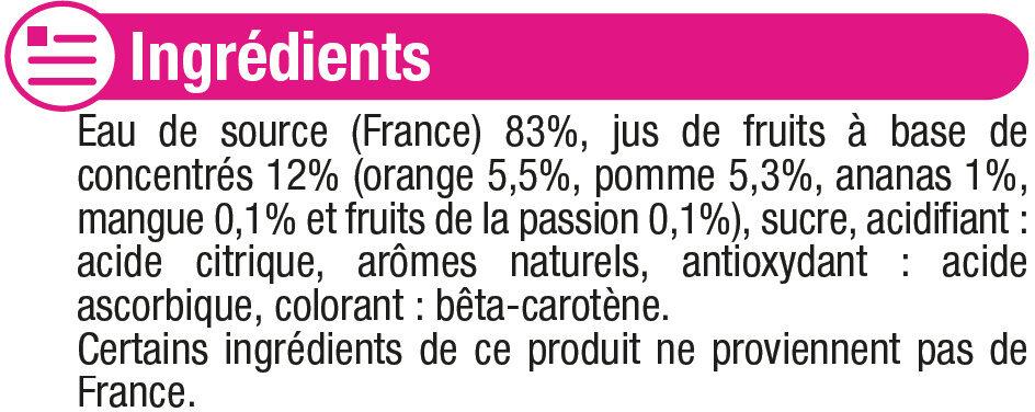 Boisson plate aux fruits tropical - Ingrédients - fr