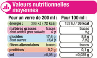 Boisson plate aux fruits tropical - Informations nutritionnelles - fr