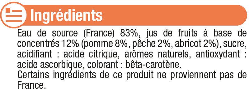 Boisson aux fruits plate pêche abricot - Ingrediënten