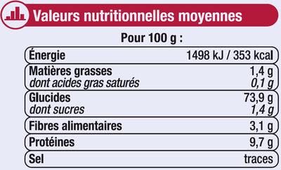 Farine de blé patissière T45 - Voedigswaarden