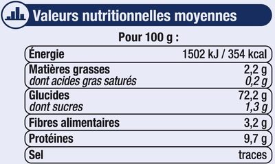 Farine fluide T45 - Informations nutritionnelles - fr