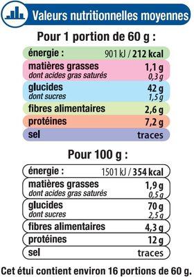 Couscous grains moyens - Informations nutritionnelles - fr