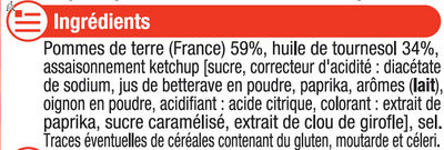 Chips arome (ketchup/moutarde/barbecue) - Ingrédients - fr